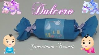 Dulcero para Baby Shower Material reciclado/Candy Bag