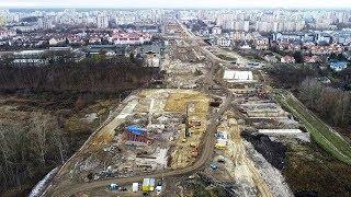 Budowa Południowej Obwodnicy Warszawy S2. Odcinek Miasteczko Wilanów.