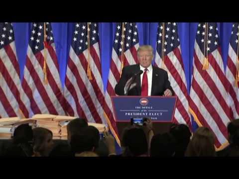 Jumpa Pers Pertama Donald Trump - Liputan Berita VOA #1