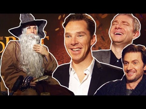 Hobbit 2- Benedict CUMBERBATCH, Martin FREEMAN, Richard ARMITAGE meet DANDALF The Disco