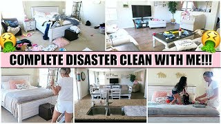 COMPLETE DISASTER CLEANING MOTIVATION | CLEAN WITH ME 2019 | ALL DAY CLEANING!