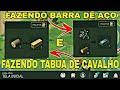 COMO FAZER BARRA DE AÇO E TÁBUA DE CAVALHO\LAST DAY ON EARTH SURVIVAL...