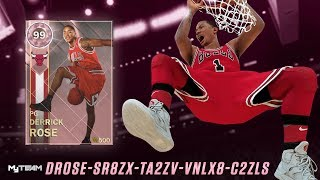 NBA 2K18 | PROBANDO A ROSE PINK DIAMOND 99