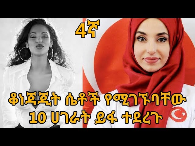 Top 10 Countries with World's Most Beautiful Women