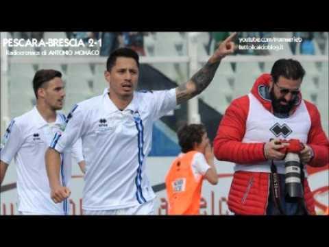 Pescara-Brescia 2-1 - Radiocronaca di Antonio Monaco (23/4/2016) da Rai Radio 1