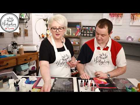 Alcohol Inks 101 - Hedgehog Hollow Happy Hour with Greg & Alexandra
