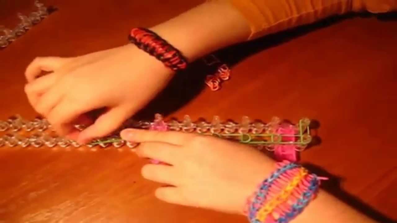 Как сделать браслеты из маленького станка