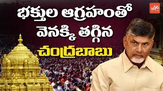 Chandrababu Tooks Back His Decision Over Tirumala Temple Maha Samprokshanam | #Tirupati