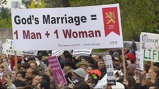 US anti-same sex marriage march in Washington Image