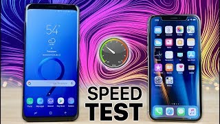 Samsung Galaxy S9 Plus vs iPhone X SPEED Test!
