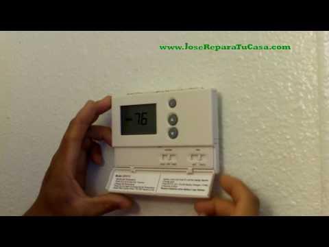 Como Cambiar El Termostato  Del Aire Acondicionado   Reparaciones De La Casa