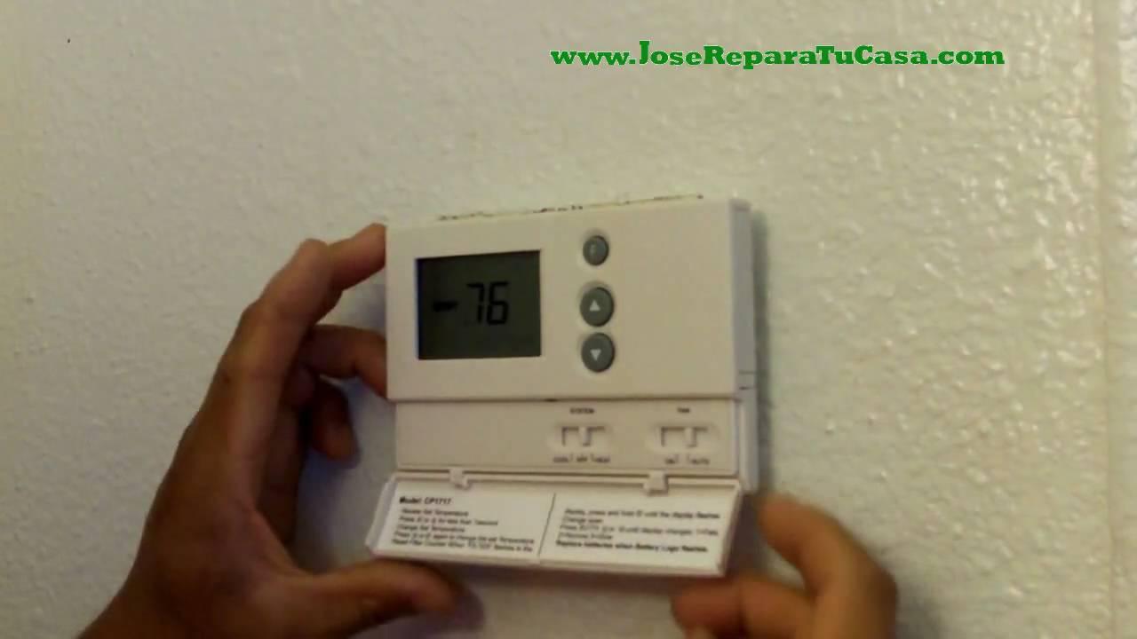 Como cambiar el termostato del aire acondicionado - Cambiar termostato calefaccion ...
