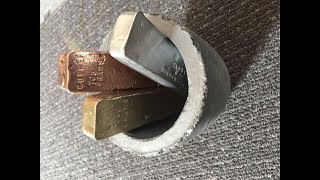 MIXING METALS - MOLTEN COPPER BRASS & ALUMINIUM TOGETHER - DROP TEST INCLUDED