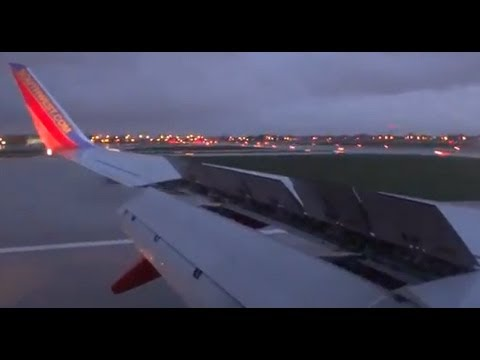 Bad Weather Landing - Southwest Airlines Boeing 737-800 - Chicago Midway Airport KMDW / MDW
