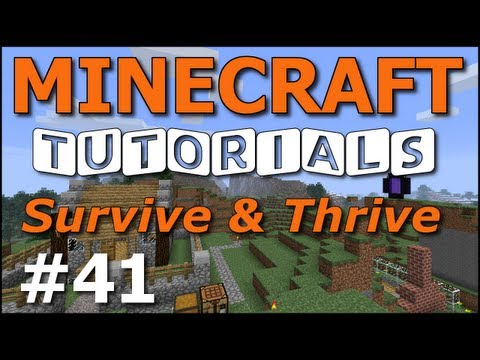 Minecraft Tutorials - E41 Nether Wart Farm (Survive and Thrive II)
