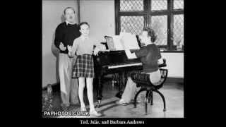 Julie Andrews at 13 - Duet with stepdad