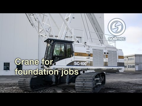 Soilmec SC 100 Crawler Crane for foundations jobs