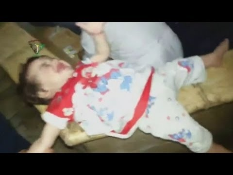 Syria: Shocking footage of 'chlorine chemical weapons attack' aftermath