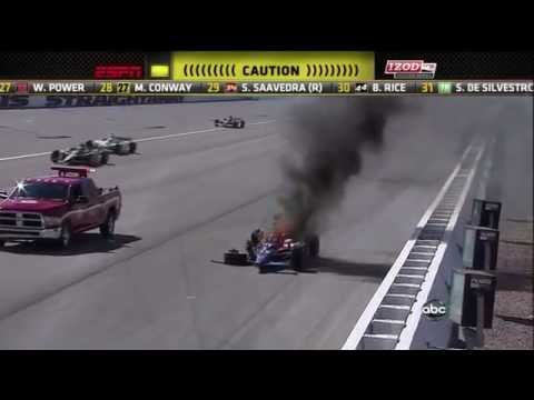 Crazy Race Car Crash (dan Wheldon Death Video) video
