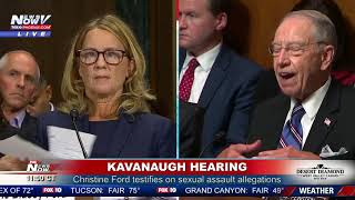 KAVANAUGH HEARING PART 2: Christine Ford continues being questioned (FNN)