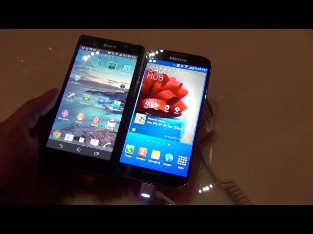 Samsung Galaxy S4 vs. Xpiera Z