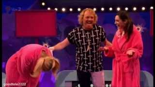 Holly Willoughby & Kelly Brook Lock Lips On Celebrity Juice For Charity!