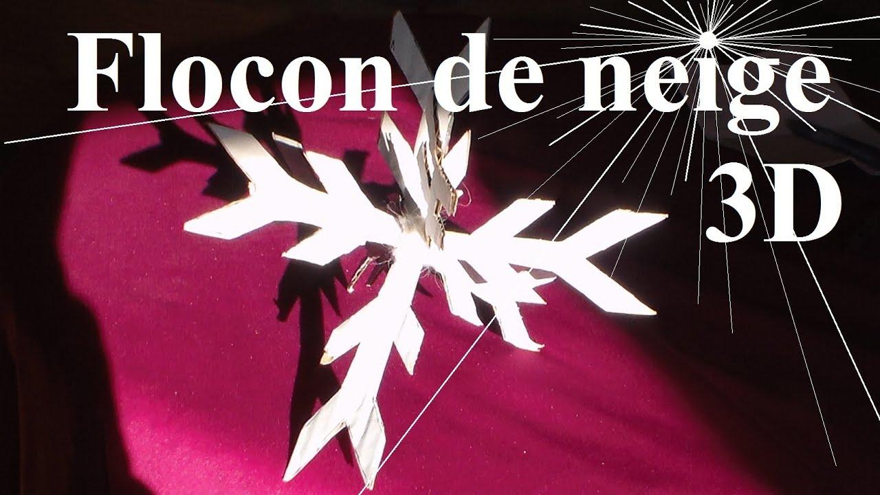 Flocon De Neige 3d Pour No L Activit Manuelle De Bricolage Pour Enfants Youtube