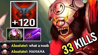He Thought It's Over And Started To Trash Talk But Carry Axe Octarine Core +160 DPS Hunger WTF Dota2