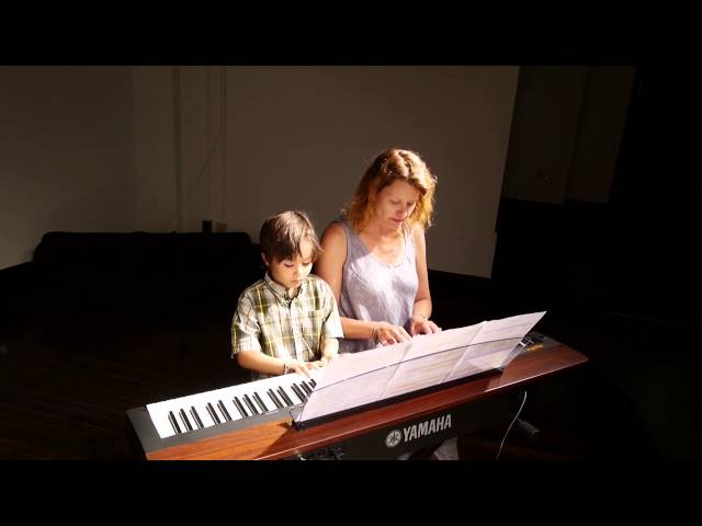 Arman (6) and his Mom perform piano duet Winter Waltz