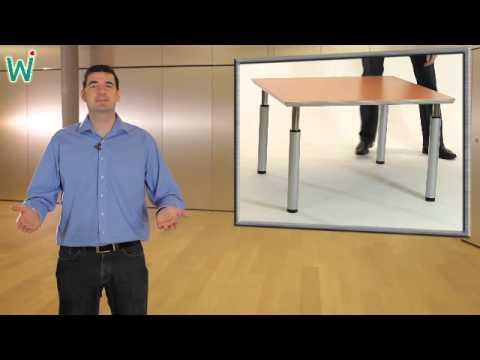h henverstellbare tische tische mit rasterbein. Black Bedroom Furniture Sets. Home Design Ideas
