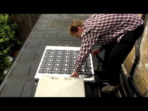 How to Install an AKT Solar panel on a mobile home