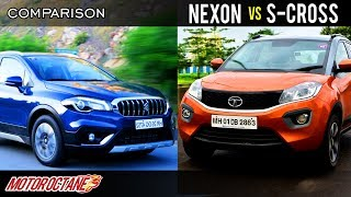 Tata Nexon vs Maruti S-Cross Comparison| Hindi | MotorOctane