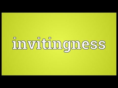 Header of invitingness