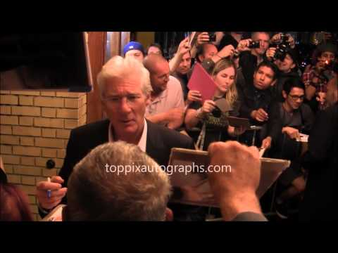 Richard Gere - Signing Autographs at the 2014 Toronto International Film Festival