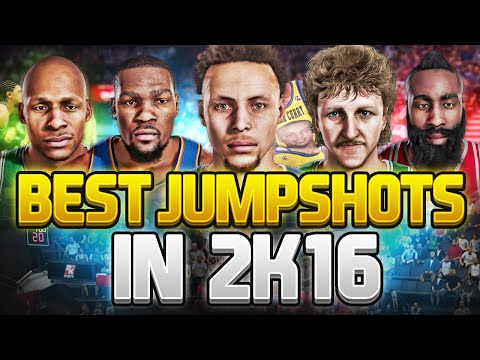 NBA 2K16 BEST JUMPSHOTS TO USE IN MYPARK. MYCAREER. & PRO-AM!