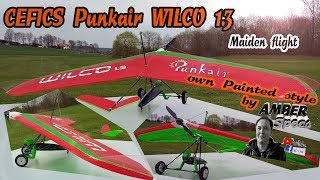 RC-Hanggliding: Cefics Punkair WILCO 1.3 ownpainted Groundstarted Maiden