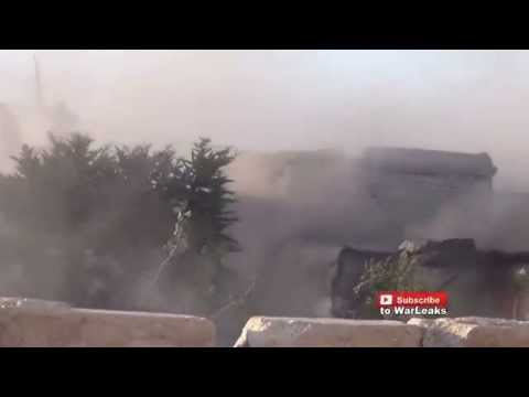 Syria War 2015   IS Fighter Blows Himself Up After Being Surrounded By Free Syrian Army Fighters