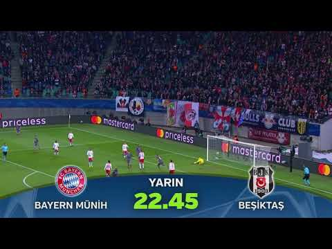 Şampiyonlar Ligi Bayern Münih-Beşiktaş maçı tanıtımı.