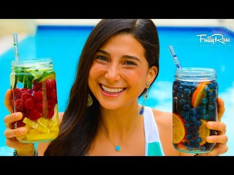 FullyRaw Fruit-Infused Vitamin Water! (Aguas Frescas)