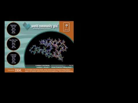 World Community Grid screensaver | Human Proteome Folding-Phase 2 6.17