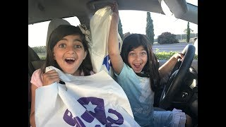 FUNNY KIDS DRIVING PARENTS CAR TO Toys R Us!!! Toy Hunt Shopping SKIT