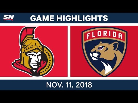 NHL Highlights | Senators vs. Panthers – Nov. 11, 2018