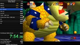 Super Mario 64 - 16 Star (EMU) in 18:47