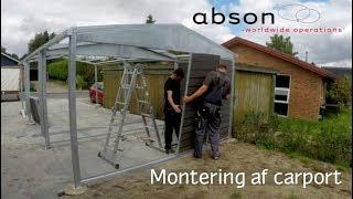 Abson - Montering af carport