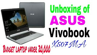 Unboxing Of Asus Vivobook X507MA