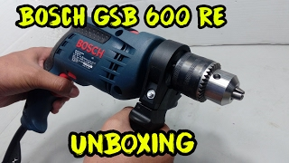 Bosch GSB 600 RE Smart Drill Kit -13mm 600w Unboxing