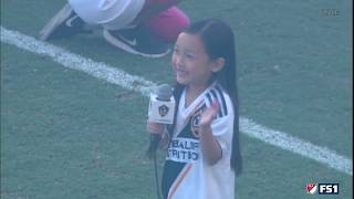 7-year-old Malea Emma absolutely crushes the National Anthem before LA Galaxy vs. Seattle Sounders