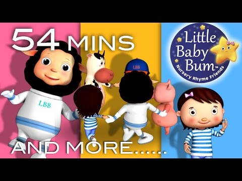 Ring Around The Rosy | Plus Lots More Nursery Rhymes | 54 Minutes Compilation from LittleBabyBum!