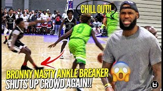 Lebron James Watches Bronny Jr. BREAK Defender's Ankles After Crowd Chants OVERRATED AGAIN!!