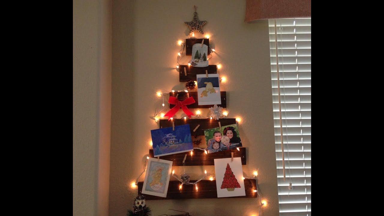 DIY Christmas Decor Wooden Tree Christmas Card Holder